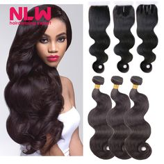 Buy Malaysian Body Wave With Frontal 3 Thick Bundle And Closure Body Wave Hair Weft Bouncy for Black Girl lace frontal with bundles from Reliable lace rock suppliers on NLWHair Store