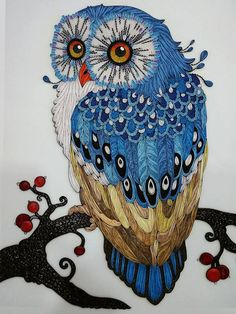 Handmade Owl Paper Quilling Art by GiftableArts on Etsy