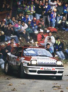 MM RALLY I Watch&FOLLOW. FAMOUS Finnish Juha Kankkunen, Tommi Mäkinen, Jari-Matti Latvanen...Carlos Sainz Luis Moya - Toyota Celica