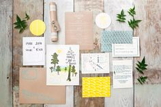 Invitations by stationer Jenny Pennywood set the tone for the weekend of 'love under the redwoods.' - Inspired by a forest redwood wedding