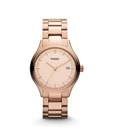 Fossil Female Dress Watch  ES3162 Rose Gold Analog   Sale price. $94.95