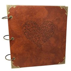 SAIBANG Retro Leather DIY Photo Album 3 Rings Wedding Selfadhesive Guestbook Scrapbooking Perfect Way to Store and Present Your Photos Black Paper >>> You can get more details by clicking on the image.Note:It is affiliate link to Amazon.