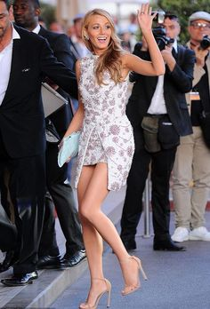 """Fabulously Spotted: Blake Lively Wearing Giambattista Valli Couture -  """"Le Grand Journal' - http://www.becauseiamfabulous.com/2014/05/blake-lively-wearing-giambattista-valli-couture-le-grand-journal/"""
