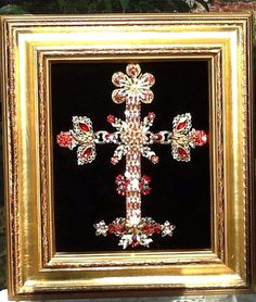 Vintage jewelry christmas cross by Veniceislandart on Etsy, $250.00
