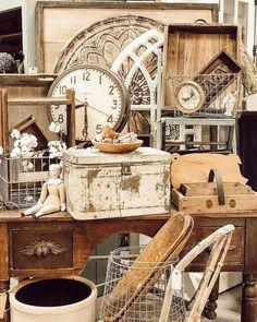 The Found Cottage ™ ( Vintage Booth Display, Antique Booth Displays, Antique Mall Booth, Antique Booth Ideas, Vintage Ideas, Flea Market Displays, Vendor Displays, Store Displays, Flea Markets