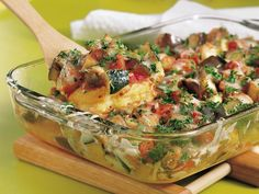 Ratatouille Polenta Bake - onions, peppers, eggplant, zucchini, tomatoes, cheese &  refrigerated plain polenta
