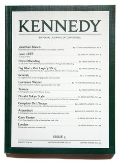 Kennedy Magazine no. 3