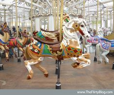 San Francisco's Beautiful Looff Carousel Horses