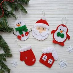 Christmas ornaments Felt Christmas ornaments Santa Claus Snowman Christmas animals Christmas gifts Christmas tree – 37 super easy diy christmas crafts ideas for kidslaser cut ornament wooden christmas tree ideagift guide for the style maven Christmas Tree Logo, Small Christmas Trees, Noel Christmas, Christmas Animals, Christmas Gifts For Kids, Christmas Crafts, Holiday Logo, Funny Christmas Decorations, Funny Christmas Ornaments