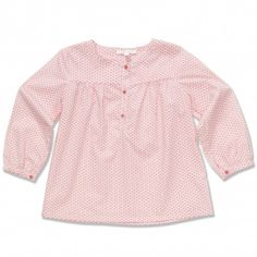Rosa blomstrete bluse fra Marie Chantal hos armerogben.no