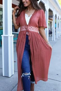 Half Sleeve Lace Up Cardigan –vacation outfit ideas,vacation wear,vacation clothes,outfit vacation,vacation fashion,summer vacation style,travel dresses summer,summer vacation clothes  #vacationdresses #caribbean #beach #vacationdressesmexico #vacationdressescasual #summer #boho #maxi #hawaii #streetstyle #fashion #stripeddressoutfit #vacationdressesbeach