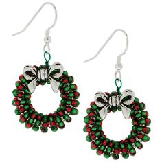 Wreath Earrings DIY from Fusion Beads #Seed #Tutorials