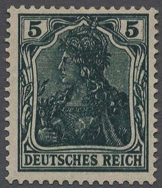 German Empire, Germania with watermark, Michel 85 II a DD - 1905 / 13.5 Pfg. dark green, double impression, mint never hinged outstanding quality this very scarce special feature, from the only a few copies recorded are. Certificate with photograph Jäschke-Lantelme / BPP.  Lot condition   Dealer Gärtner Christoph Auktionshaus  Auction Starting Price: 600.00 EUR