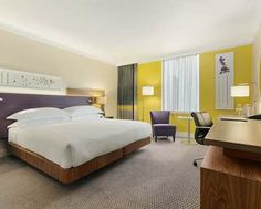 A landmark hotel at Wembley Stadium, Hilton is within easy reach of London's West End. Modern meeting space, indoor pool, Sky Bar, sauna and steam rooms. Olympic Hotel, Modern Hotel Room, Manchester Hotels, Hotel Room Design, Landmark Hotel, Bedroom Lighting, Hotel Spa, Guest Room, Yurts