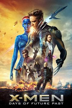 X-Men: Days of Future Past ~ The ultimate X-Men ensemble fights a war for the survival of the species across two time periods. ~ Starring: Hugh Jackman, Jennifer Lawrence, Michael Fassbender, James McAvoy and Ian McKellen Michael Fassbender, Days Of Future Past, Xmen Future Past, Movies 2014, Man Movies, Watch Movies, Popular Movies, Latest Movies, James Mcavoy