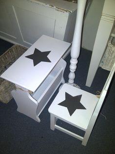 U.S.A. star meubelen, kalkwit landelijk brocante, Verkrijgbaar by Silk & Design in Katwijk aan zee.