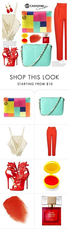 """""""CASHHIMI 2"""" by gaby-mil ❤ liked on Polyvore featuring Topshop, Giuseppe Zanotti, Medusa's Makeup, Kevyn Aucoin, Kate Spade, bags, PYTHON and cashhimi"""