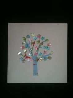 Canvas Picture made with Cath Kidston material and assorted pearlescent buttons £15.00