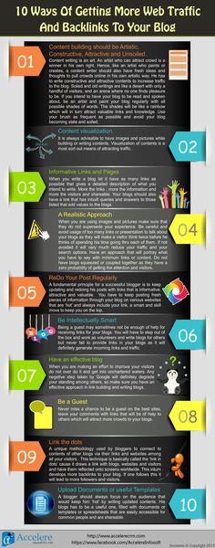 10 consejos para conseguir tráfico a tu blog #infografia #infographic