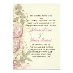 Discount DealsPink Tan Grunge Swirls Leaves Wedding Invitationtoday price drop and special promotion. Get The best buy