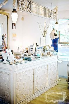 Checout counter, store counter, shabby, beachy, farmhouse, cottage , tin squares