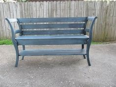 An awesome bench made out of chairs by Gail from My Repurposed Life project-ideas #ChairBench
