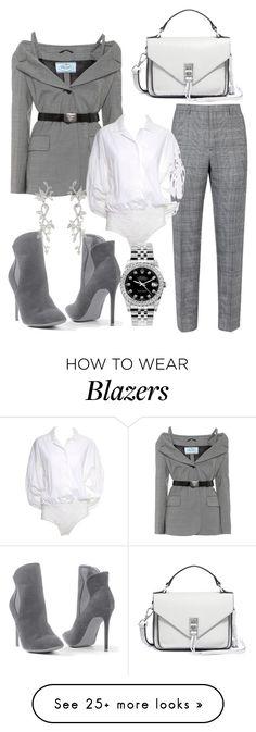 """The blazer"" by michelle-thompson-v on Polyvore featuring Prada, Christian Dior, Venus, Rebecca Minkoff and Rolex"