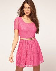 Lace - another favourite of mine Rare Lace Cap Sleeve Skater Dress