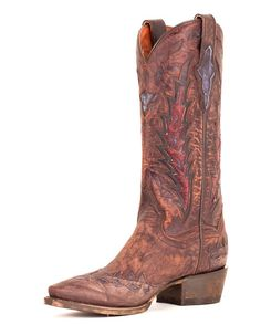 Dan Post Lady Roy in Nicotine.  Just bought this boot and really love it.  The taller shaft fits perfectly and the color works well with everything.
