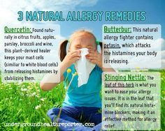 Natural Allergy Remedies...
