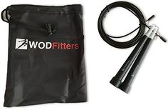 WODFitters Ultra Speed Cable Jump Rope for Cross Training and Cardio Fitness Adjustable Black * Click image to review more details.