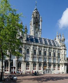 Middelburg - City hall which had to be entirely rebuilt after 1945, it had been bombed into rubble