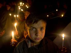 Kashmiri Shiite Muslim boys hold candles during a protest against Saudi Arabia in Srinagar in Indian-controlled Kashmir on Jan. 5, 2016. Hundreds of Shiite Muslim there rallied against Saudi Arabia after it announced Saturday it had executed 47 prisoners convicted of terrorism charges, including al-Qaeda detainees and a prominent Shiite cleric who criticized the government.   Dar Yasin, AP
