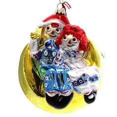 Raggedy Ann & Andy Glass Ornament