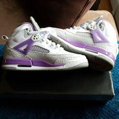 uk availability a05a8 e5148 Nike Shoes   Jordan Spizike (Gs) Whitevioletpop Grey   Color  Purple White