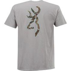 Browning Women's Realtree Buckmark Classic Outdoor Graphic T-shirt (Grey, Size Medium) - Men's Outdoor Apparel, Men's Outdoor Graphic Tees at Acade...