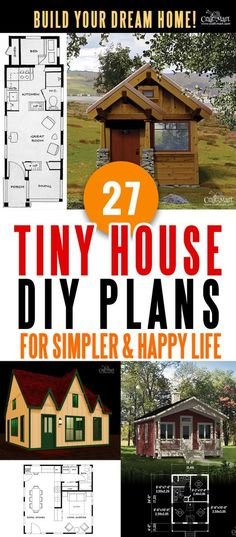 Perfect collection of tiny house plans for building your dream home without spending a fortune Your tiny house doesnt have to be ugly or weird just look at these archite. Pallet House Plans, A Frame House Plans, Unique House Plans, Tree House Plans, Wood Shed Plans, House Floor Plans, Tiny House Cabin, Tiny House Living, Tiny Houses
