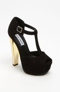Steve Madden 'Dyvine' Platform Pump available at #SteveMadden.    These are going to be my new year's heel. The gold heel is a lot bolder in person.