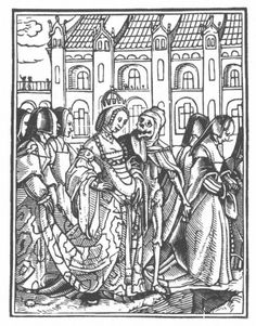 Hans Holbein the Younger, 1524-26      The Dance of Death. The empress