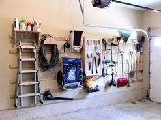 french cleat storage system - Google Search. Wife said I could do this, if I could fit it in. Bless!