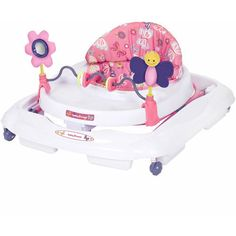 Girls Baby Walker with Removable Toy Bar Toddler Height Adjustable Padded Seat #BabyTrend
