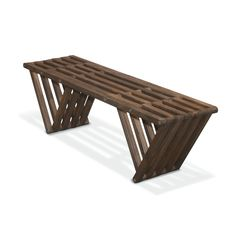 EcoPine Angle Bench in Espresso | dotandbo.com Could use as a coffee table in spare room