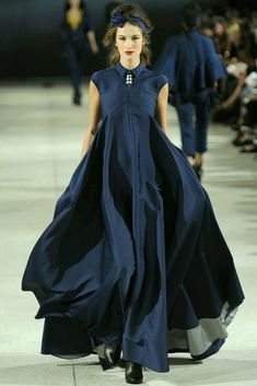 navy / dark blue gown #dresses