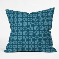 "DENY Designs Khristian A Howell Moroccan Mirage Throw Pillow Size: 16"" H x 16"" W, Color: Blue"