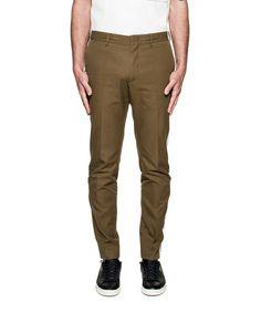 MSGM Msgm Men'S  Green Cotton Pants'. #msgm #cloth #pants