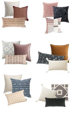 Cozy Throws & Pillows for Fall - Michaela Noelle Designs Boho Throw Pillows, Fall Pillows, Sofa Pillows, Throw Cushions, Decor Pillows, Decorative Pillows For Sofa, Bedroom Cushions, Bed Couch, Designer Throw Pillows