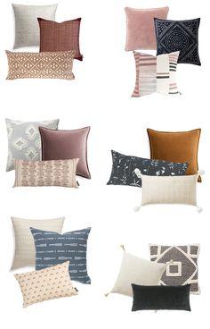 Cozy Throws & Pillows for Fall - Michaela Noelle Designs Navy Pillows, Boho Throw Pillows, Sofa Pillows, Burlap Pillows, Decorative Pillows For Sofa, Cushions On Bed, Bedroom Cushions, Decor Pillows, Sofa Throw