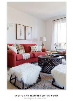 Exotic & Textured Living Room (via @Copycatchic)