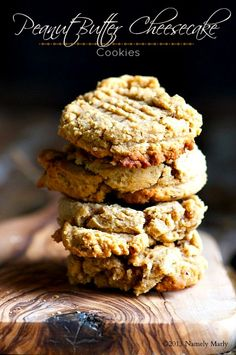 Chewy on the inside, crispy on the outside: Peanut Butter Cheesecake Cookies.