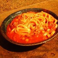 Afghaanse tomatensoep (Aush Goshti) Allrecipes, Thai Red Curry, Macaroni And Cheese, Spaghetti, Ethnic Recipes, Foods, Food Food, Mac And Cheese, Food Items